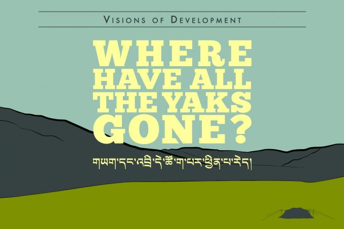 promotional flyer for Where Have all the Yaks Gone? at Trace Foundation