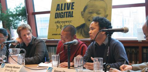 the speakers from Alive & Digital, a two-day conference on tibetan language and technology